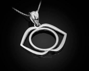 Sterling Silver Ajna (3rd eye) Chakra Yoga Pendant Necklace