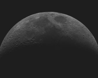 Waxing Crescent Moon, High Resolution Moon Photography, Astrophotography, Moon Picture