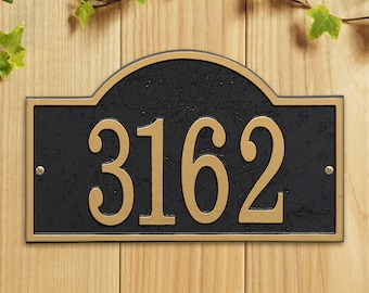 Arch Cast Address Plaque, Ships in 4 days!