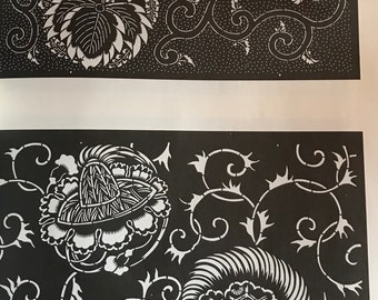 Traditional Japanese Stencil  Designs 276 illustrations Dover publication copyright free 1985