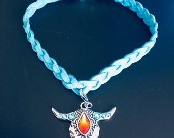 Leather Swarovski Crystal bracelet