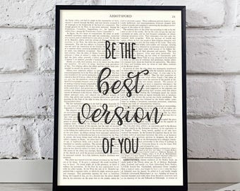 Be The Best Version Of You, Dictionary Prints, Dictionary Paper, Read More Books, Typography Poster, Minimalist Poster, Storybook Print, Art