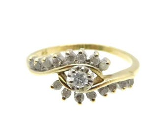 Vintage Diamond Ring, Engagement Ring, Solid Gold Ring, Wedding Ring, Anniversary Ring, Stone Ring, Promise Ring, Statement Ring, For Her