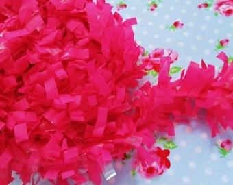 Tissue Garland Festooning Fringe - Raspberry Fizz - 2 inch - 1 Yard