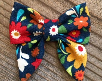Mini Flower sailor bow, sailor bows, mini sailor hair bows