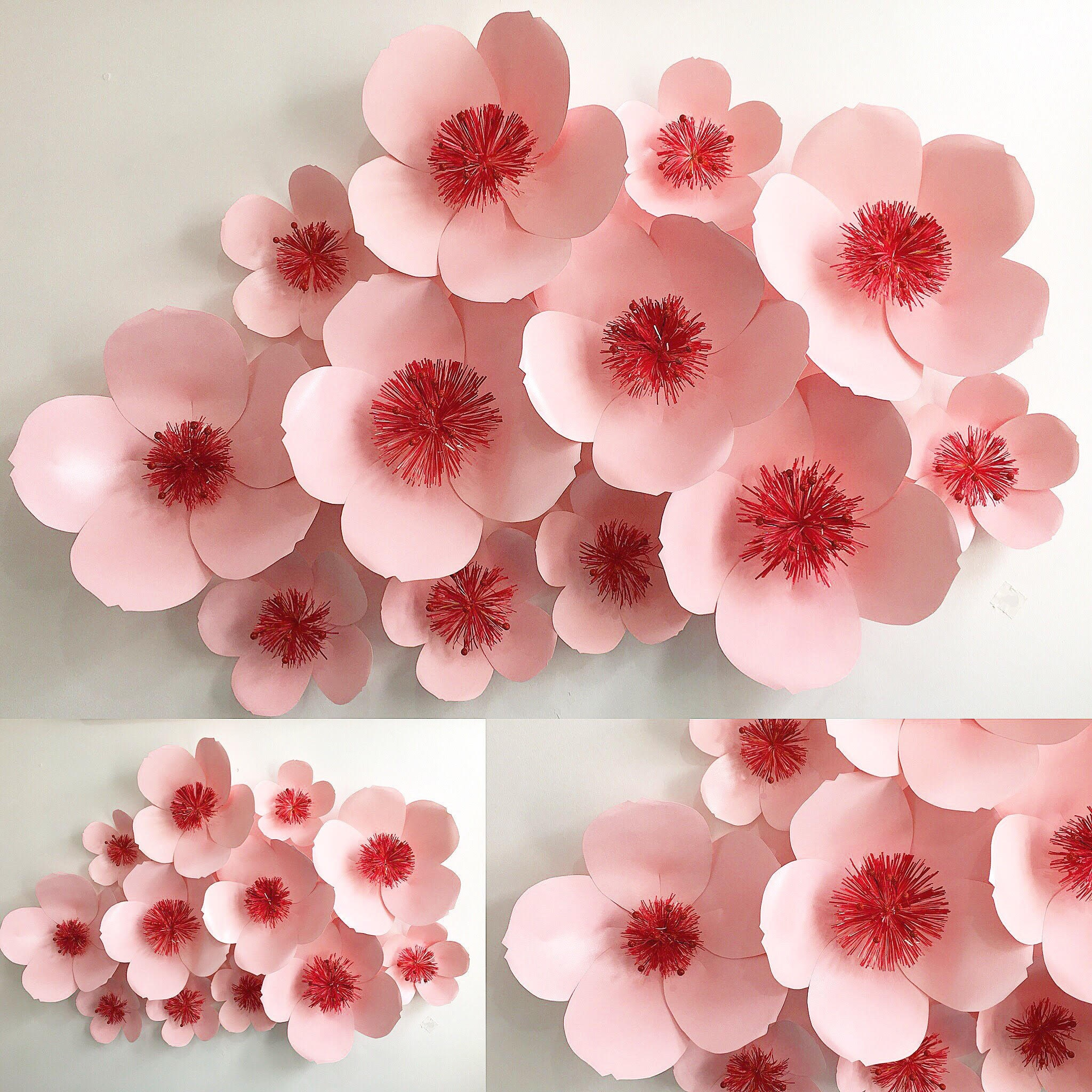 Cherry blossom paper flower backdrop description hello pink cherry blossom flowers mightylinksfo Gallery