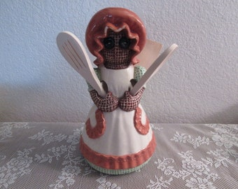 Vintage Sittre Large Ceramic Utensil Holder