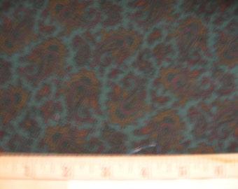 Dark Forest Green Paisley cotton