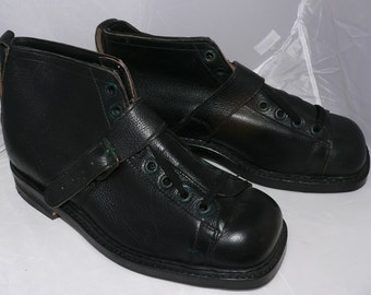 vintage 1950s swedish army boots, NOS, never worn  EU 44