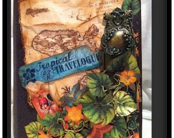 Tropical Travelogue Vintage Album on line workshop