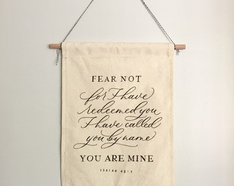 You are Mine // 11x14 Canvas Banner