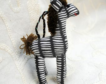Alpaca or Llama or Zebra Stuffed Animal Christmas Tree Ornament