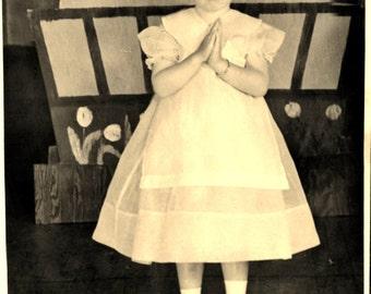 ZENA 1939 DUTCH GIRL 5 x 7 Black and White Photograph