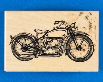 PSX Classic Motorcycle Rubber Stamp - Personal Stamp Exchange G-2107
