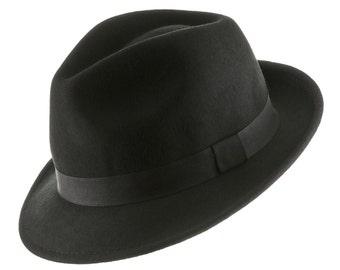 Wool Felt Trilby Snap Brim Fedora Hat