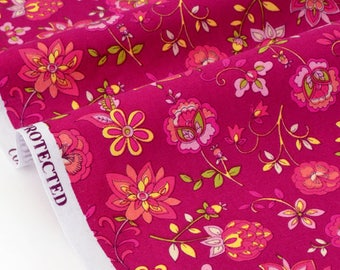 American fabric floral patchwork background magenta x 50cm