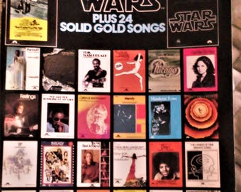 You Light Up My Life & Star Wars Plus 24 Solid Gold Songs, Sheet Music. Music Book for Piano, Vocal, Chords. Vintage 1977