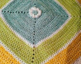 Springtime crochet childs blanket