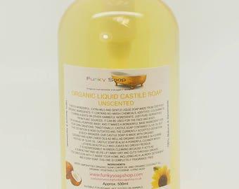 Organic Liquid Castile Soap, fragrance free, 100% Natural SLS Free 500ml