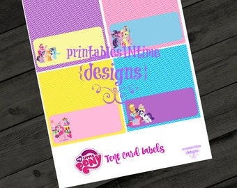 My Little Pony Party- Digital food labels- instant download