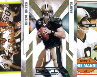 NEW ORLEANS SAINTS Football Team Lot - 200 Assorted Cards