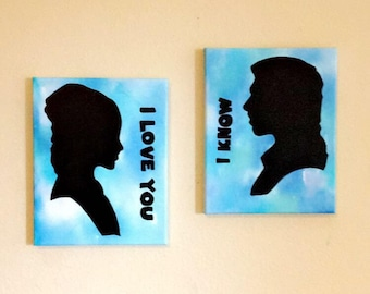 Star Wars, I love you, I know - wall art painting