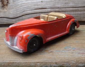 Vintage Tootsie toy car Convertible 24 steel Diecast automobile tootsietoy