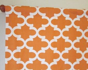 "SALE: Curtain valance 50x16"" Premier Print Fynn cinnamon orange rod pocket curtain accessories window treatments yellow navy grey"