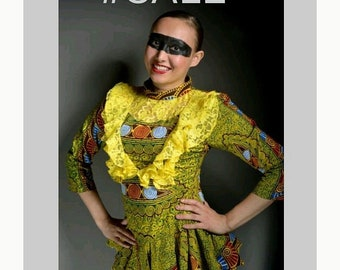 CHIOMA DAYSI: Lace infused African print Blouse
