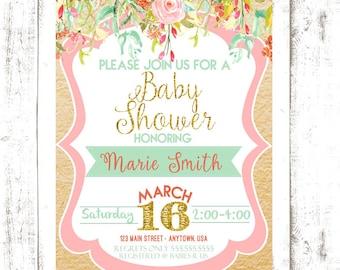 Floral Shower Invitation