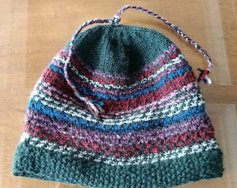 Dark green slip stitch hat