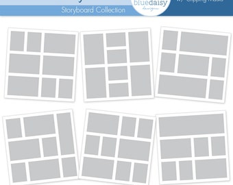 12 x 12 Storyboard Collection (Lots of Photos) - Templates for Photographers