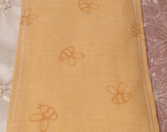 CHIC Baby Burp Cloth Boutique Style 6-ply Bee Damask Couture Yellow Orange Girl or Boy Patterns Summer Fun