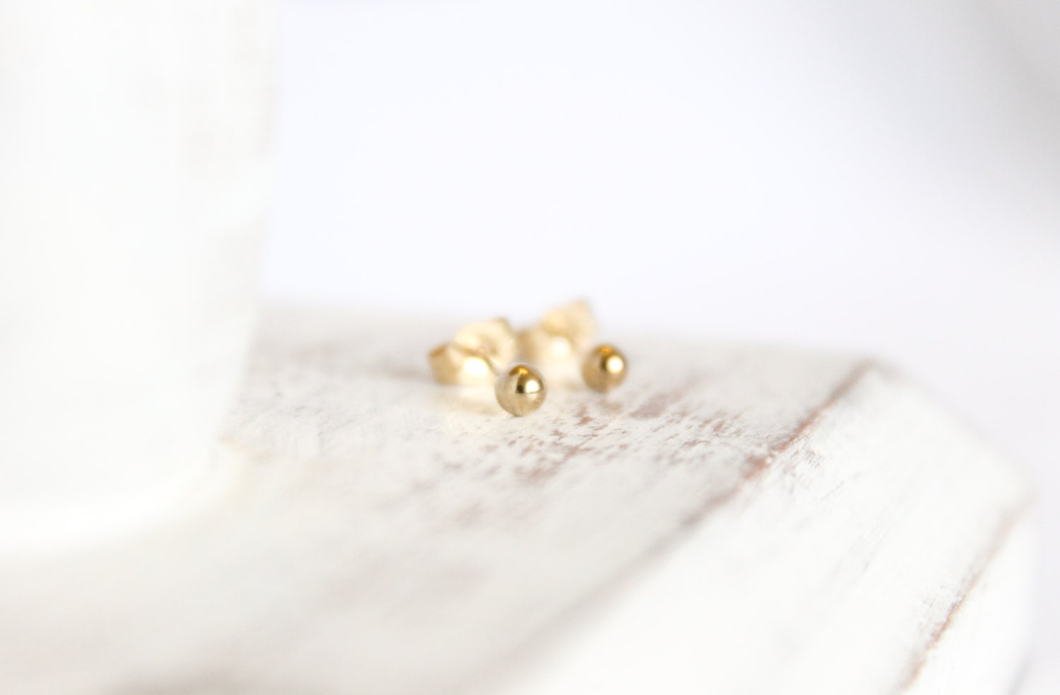 tone pearl white vintage stud gold signed earrings small product round monet