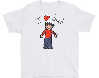 Kids Dad Shirt, Dad shirt for child, I love Dad tshirt, Kids on fathers, Fathers day tshirt