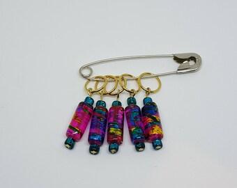 Ring Stitch Markers - Fiesta