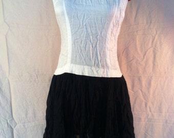 Vintage white and black dress