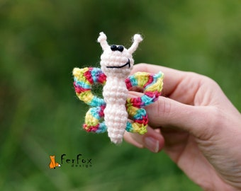 Butterfly brooch Summer jewelry Insect brooch Fashion accessory Butterfly jewelry Gift for girl Funny brooch Spring accessory Butterfly pin