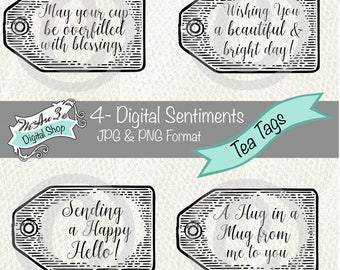 We Are 3 Digital Shop - Sentiments - Tea Tags