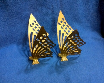Brass Butterfly Candle Holders