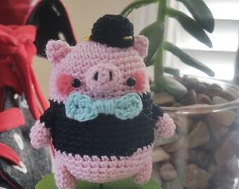 Amigurumi The Little Piggy with Snapback