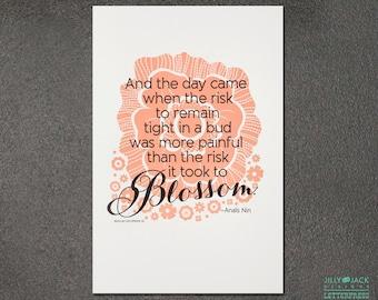Blossom Letterpress Art Print JJD_LP_BLSMP