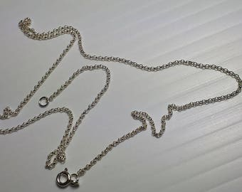 Silve neck chain, various lengths, 92.5 sterling silver