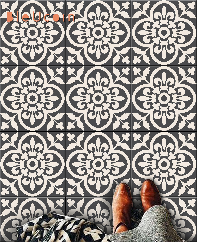 Encaustic Moroccan Tile Wall Stair Floor Self Adhesive Vinyl