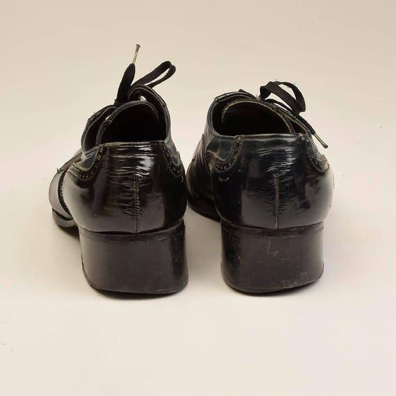 Lace 1960s Shoes Lace Up Shoes Spectators Wingtip Black Blue 60s Shoes Two Shoes Leather Shoes Mod Up Unisex Tone Shoes Menswear 1dxqUwdF