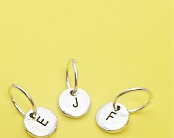 Add a charm, initial charm, add a initial charm, monogram charm, silver charm
