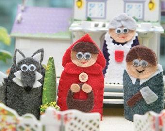 Little Red Riding Hood Finger Puppet Set