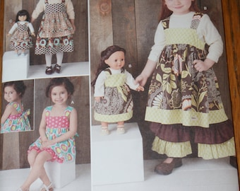 """New Simplicity Sarah Rose  Fashions S 1793 A Size 3 - 8  also 18"""" doll Dress Pattern"""