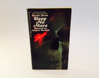 Vintage Horror Book Stories from Sleep No More by August Derleth 1967 Paperback Anthology