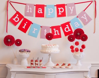 Happy Birthday Printable Banner - Instant Download